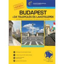 BUDAPEST + 34 TELEPÜLÉS ÉS LAKÓTELEPEK ATLASZ