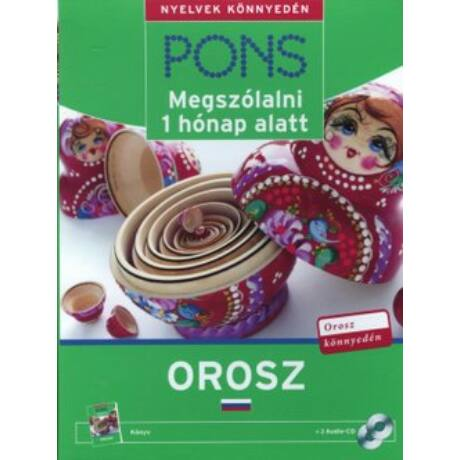 PONS - MEGSZÓLALNI 1 HÓNAP ALATT OROSZ KÖNYV+CD